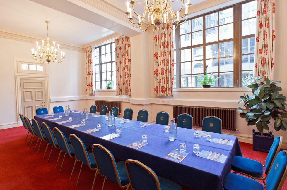 Maurice Barnet Room set boardroom style