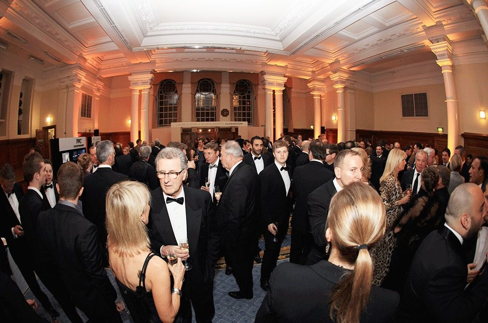 Guests at black tie reception for Laureus World Sports awards