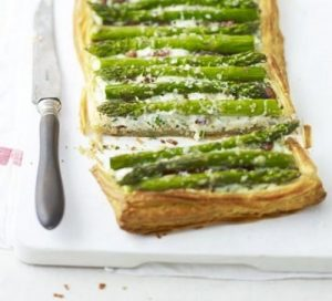 An asparagus Parmesan tart by KUDOS