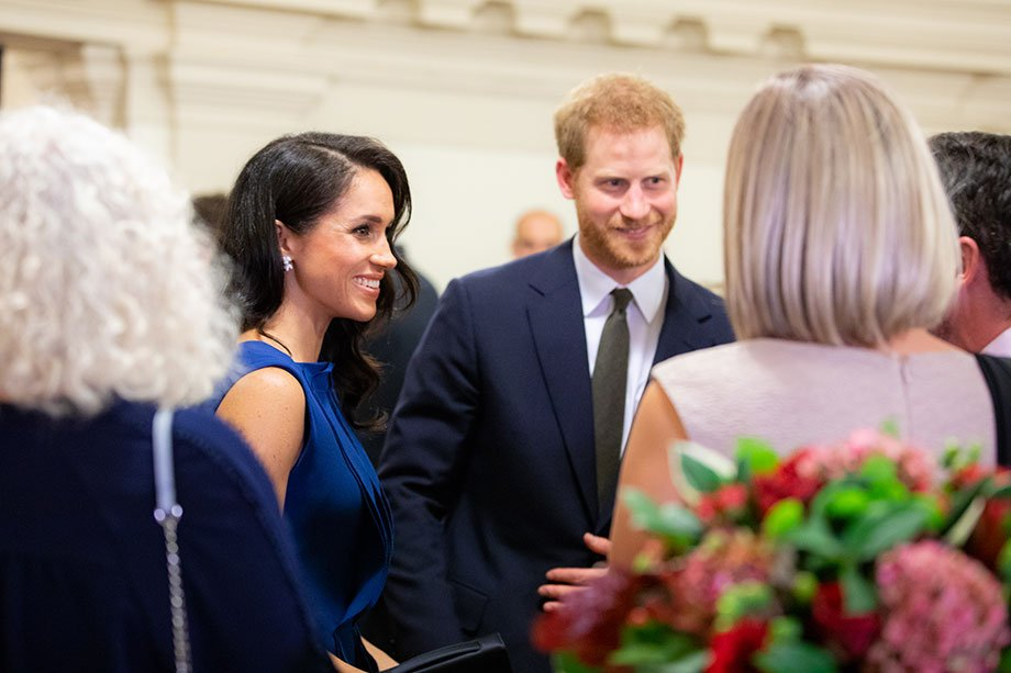 Royals Megan and Harry attending an event at Central Hall Westminster