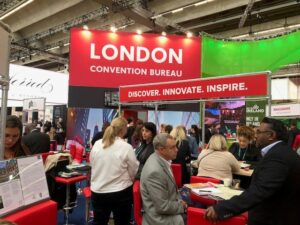 Exhibition stand for London Convention Bureau at IMEX Frankfurt