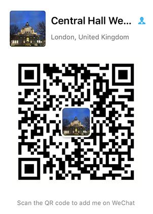 Wechat QR code for Central Hall Westminster